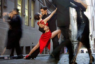 Tango dansschoenen buiten