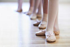 lederen balletschoenen