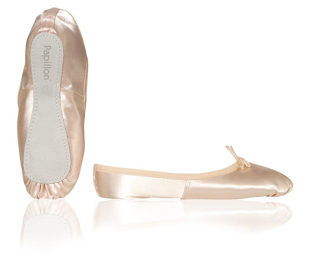 balletschoenen van satijn