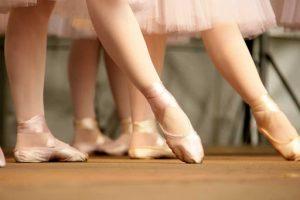 satijnen balletschoenen