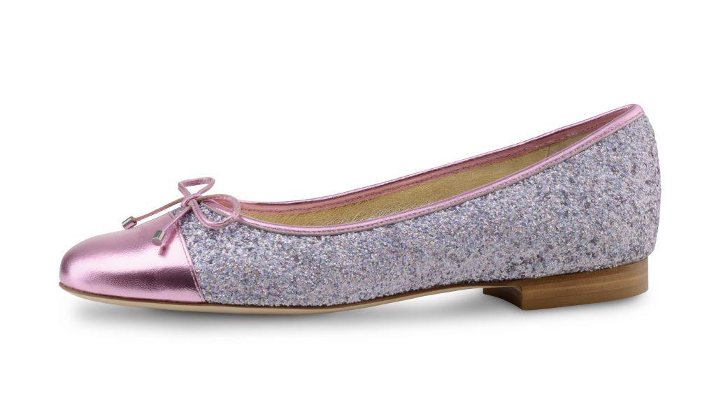 Werner kern sandy ballerina's roze glitter brokaat