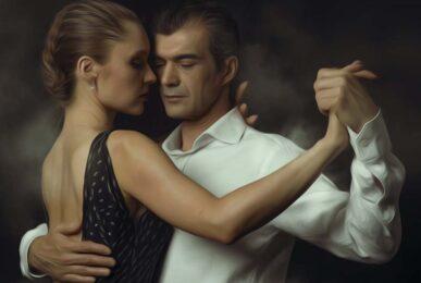 Argentijnse tango koppel haarstyling